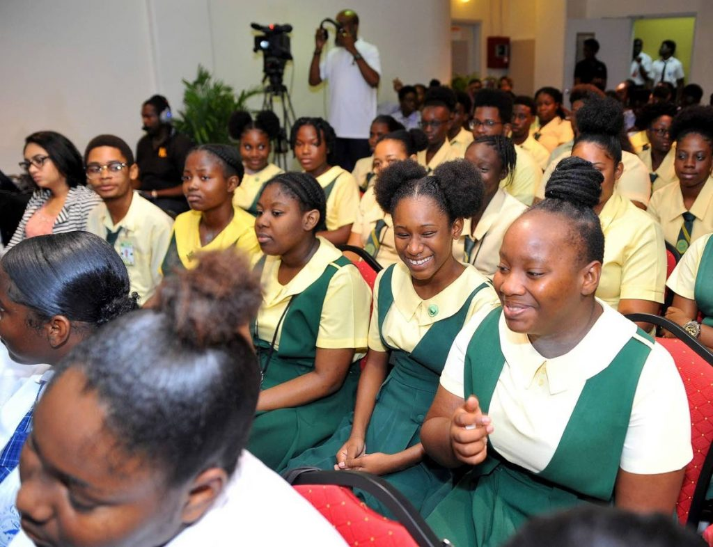 Secondary School students at a youth tourism symposium hosted by the Division of Tourism, Culture and Transportation at the Scarborough Library Facility. - THA