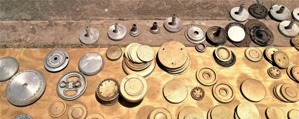 Stove burners made and sold by Vernon Wilson at the Scarborough Esplanade.  -