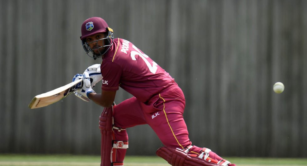 SOUTHAMPTON, ENGLAND - MAY 22: Nicholas Pooran of West Indies bats during the One Day International match between Australia and West Indies at the Ageas Bowl on May 22, 2019 in Southampton, England. (Photo by Harry Trump/Getty Images)