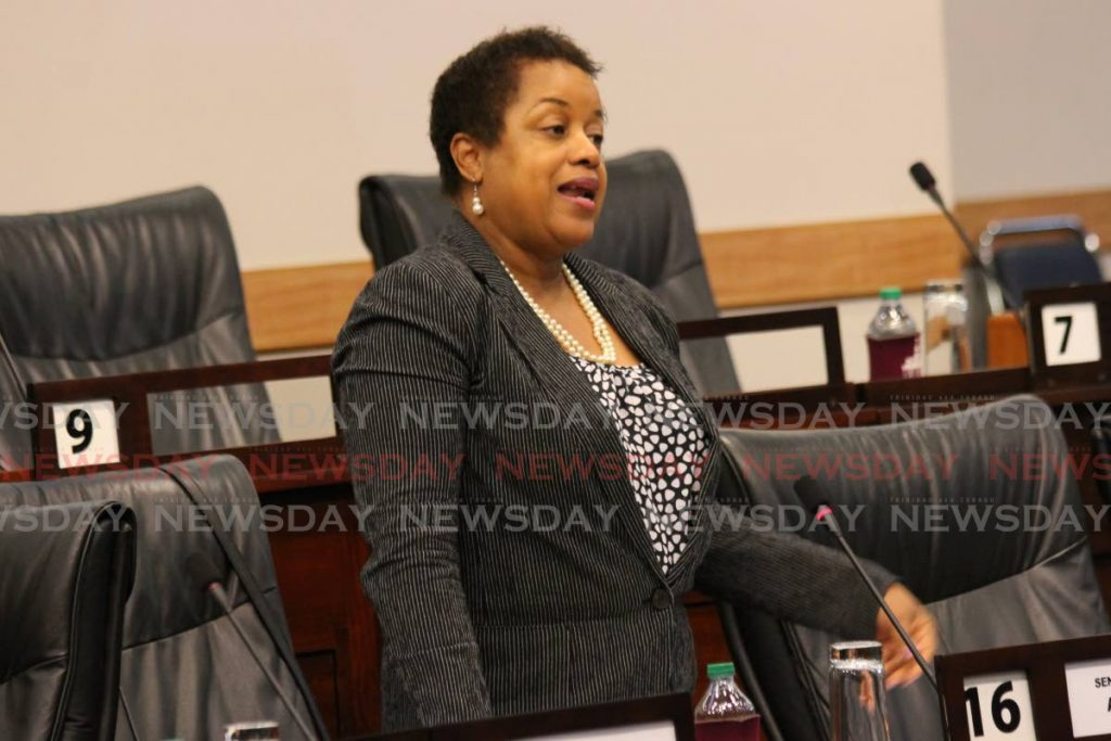 Minister in the Finance Ministry Allyson West.  PHOTO SUREASH CHOLAI -