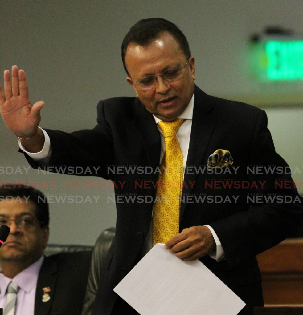 Caroni East East MP Ganga Singh in Parliament. File photo. - ANGELO_MARCELLE