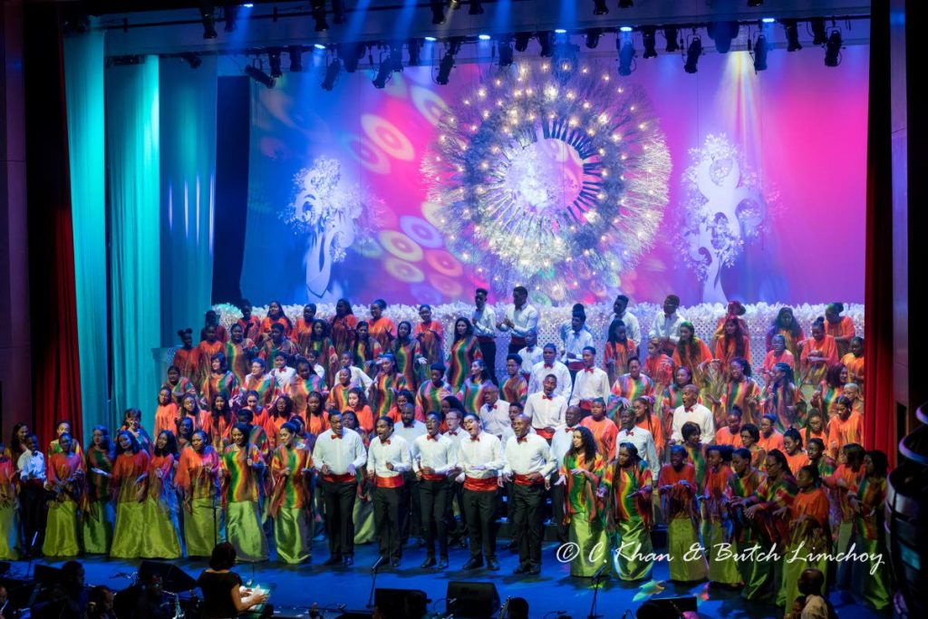 The Marionettes Chorale performing at Queen's Hall, St Ann's. -