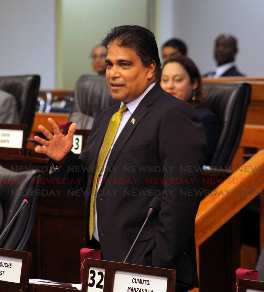 Oropouche East MP Dr Roodal Moonilal   - ROGER JACOB