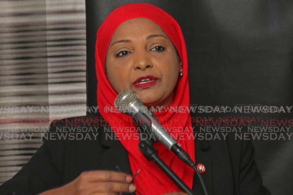 Sharifa Ali-Abdullah speaks on behalf of the Muslim community. - Marvin Hamilton