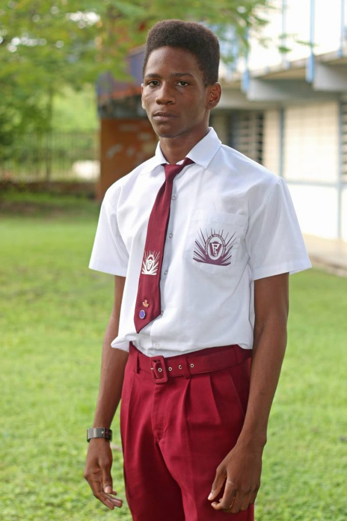 Yohance Rivas, a form six student of Pleasantville Secondary school, has been offered an internship at Term Finance. - Marvin Hamilton