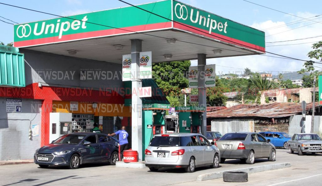 Unipet gas station on the Eastern Main Road, Morvant, - ANGELO MARCELLE