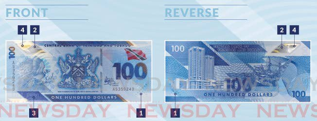 Graphic of the $100 polymer note. -