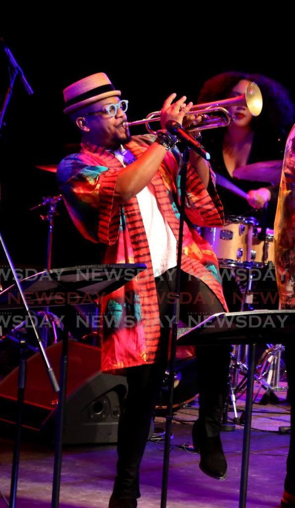 Etienne Charles at Creole Christmas 2 'featuring Venezuelan Roots at NAPA Thursday evening. - SUREASH CHOLAI