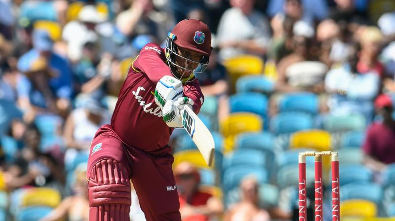 Shimron Hetmyer's knock of 56 could not help West Indies to victory against India, on Friday. Photo AFP