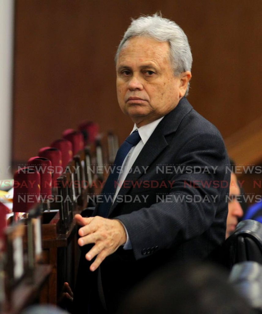 Finance Minister Colm Imbert during debate on the Finance Bill 2019 in Parlaiment on Friday. - ROGER JACOB