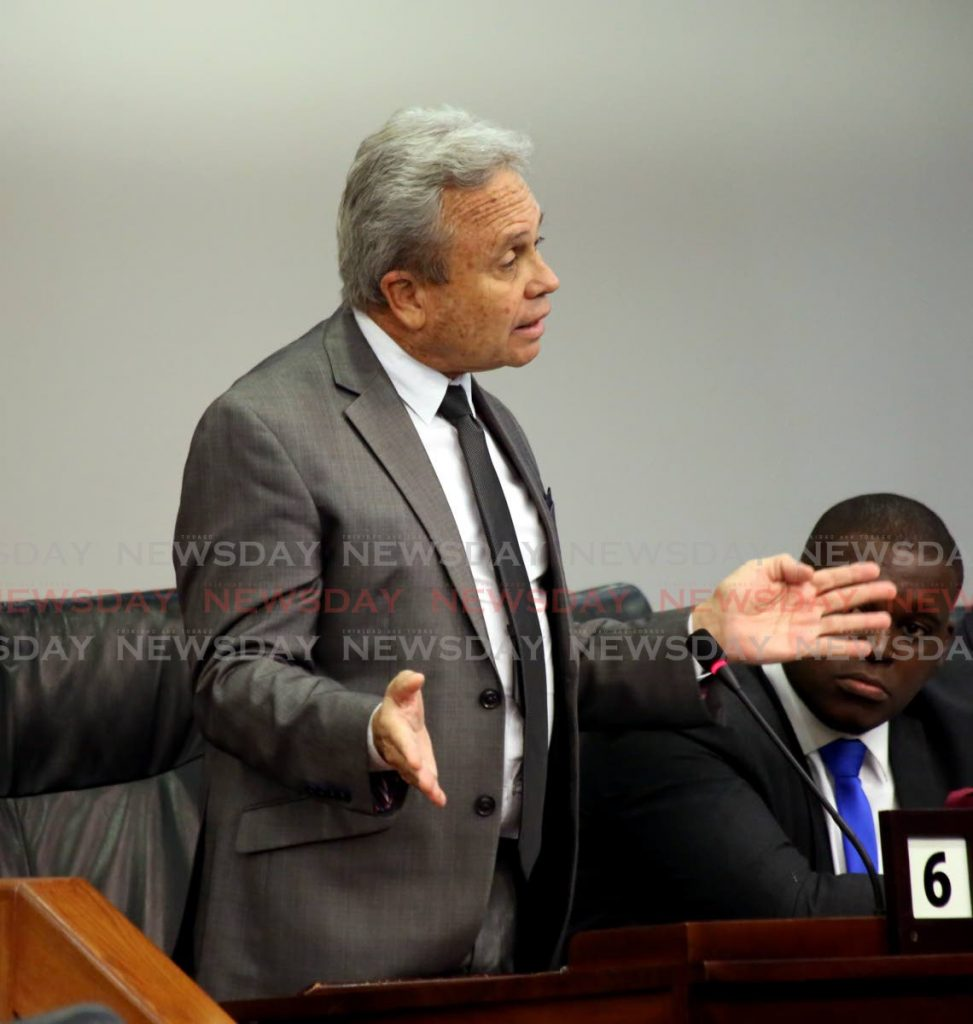 Finance Minister Colm Imbert. Photo by Sureash Cholai