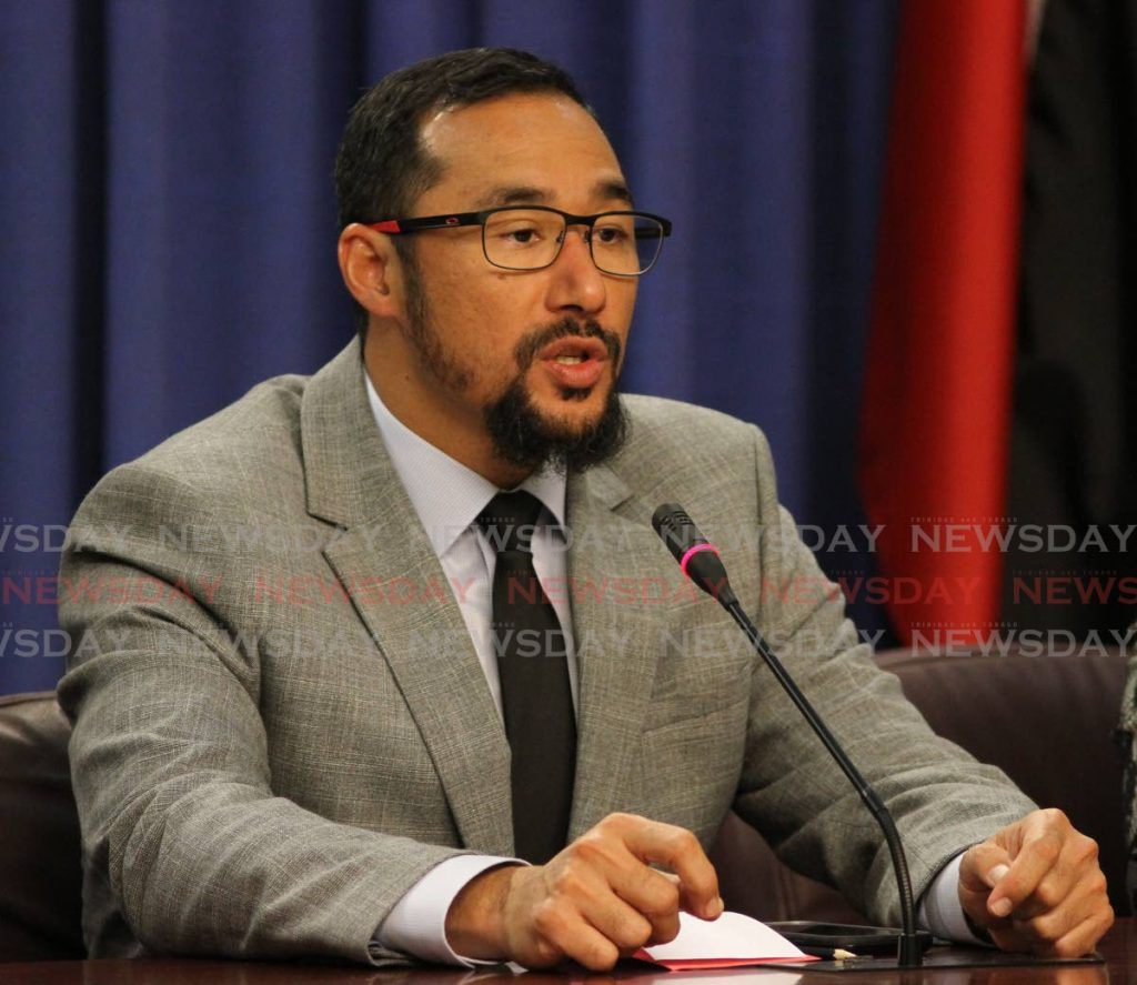 Minister of National Security Stuart Young. Photo by - Angelo Marcelle