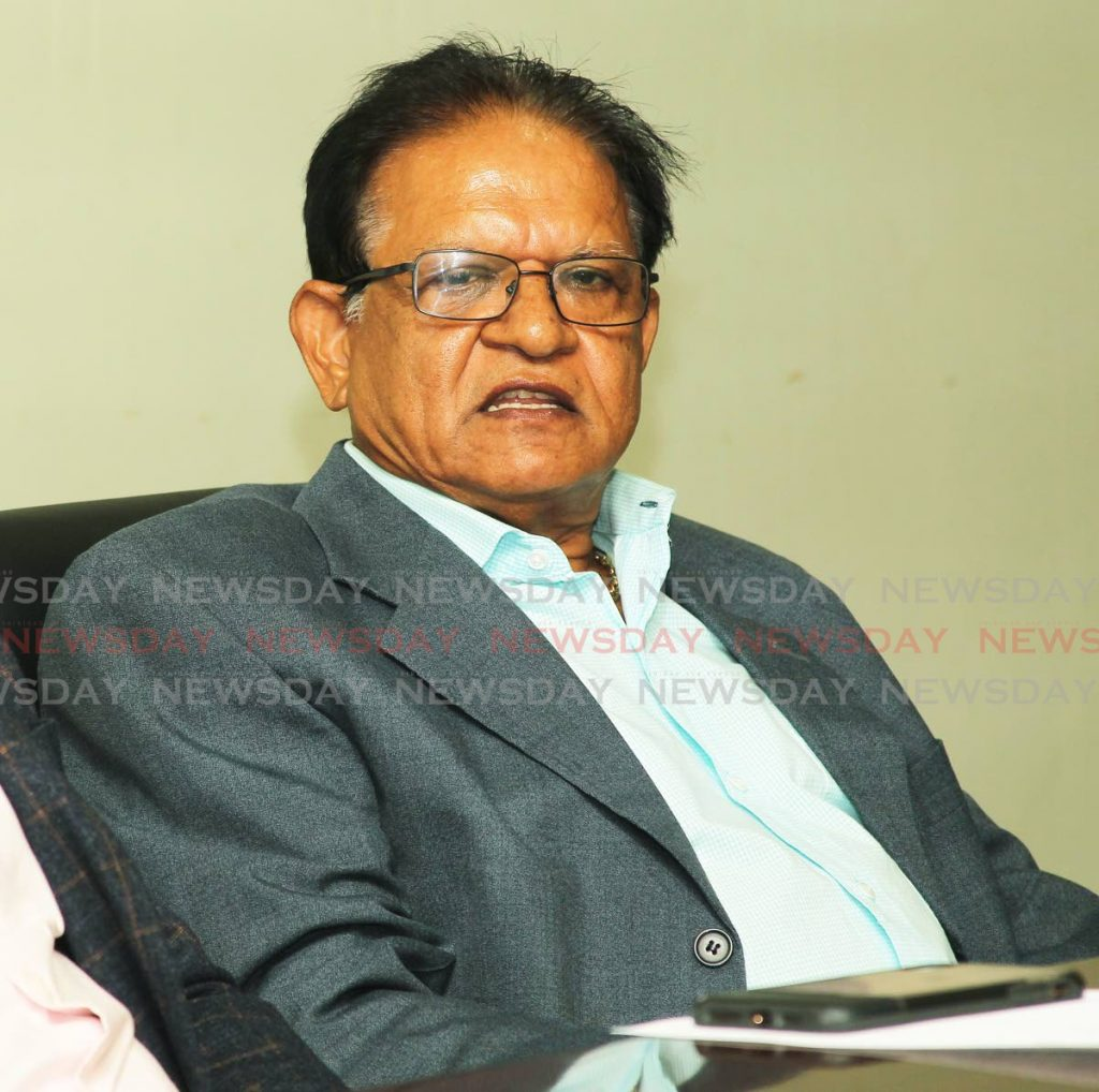 Rampersad Sieuraj, president of the Penal/Debe Chamber of Commerce.  - Lincoln Holder