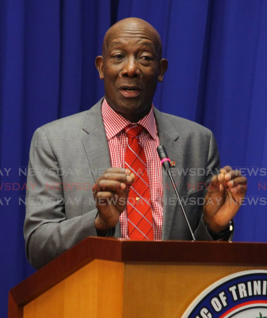 Prime Minister Dr Keith Rowley - ROGER JACOB