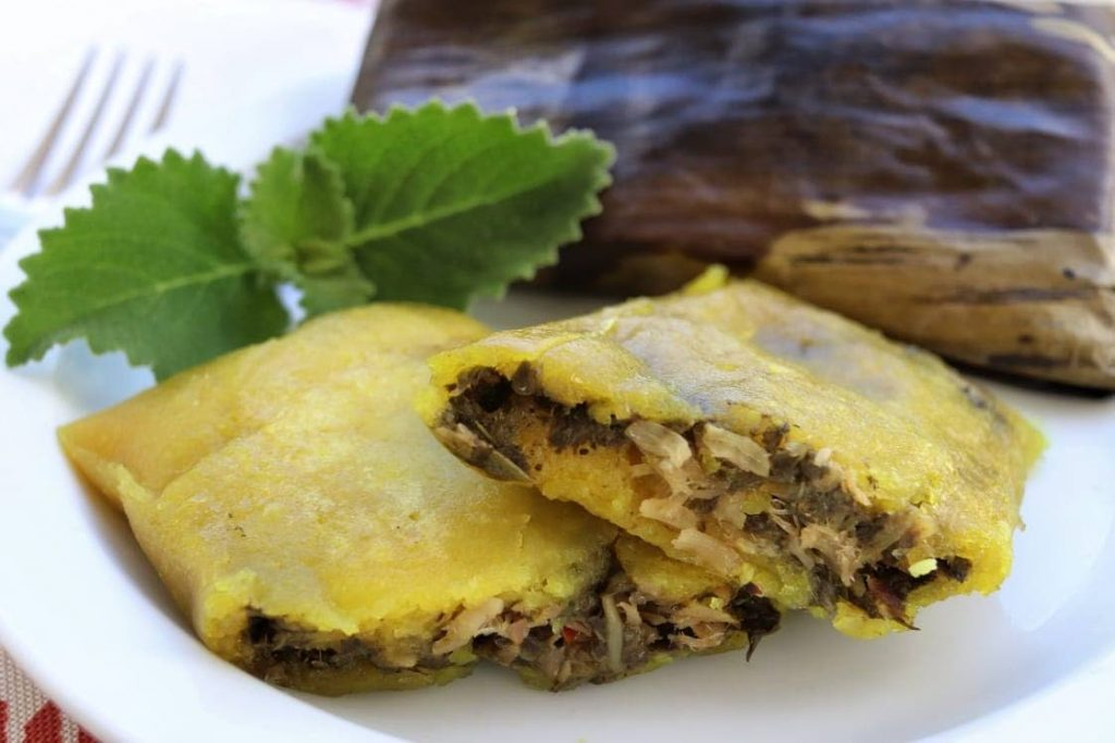 Sonya Hernandez's delicious specialty saltfish and baghi pastelles are high in demand this Christmas. -