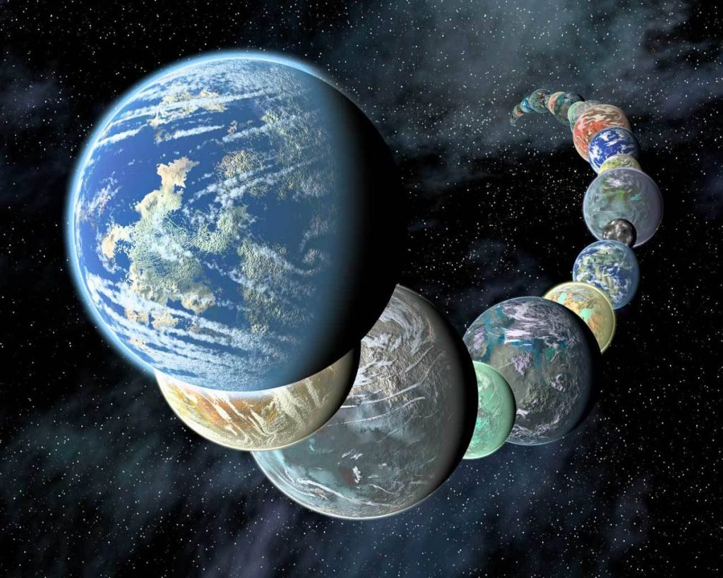 An artist's impression of exoplanets. Source: space.com -