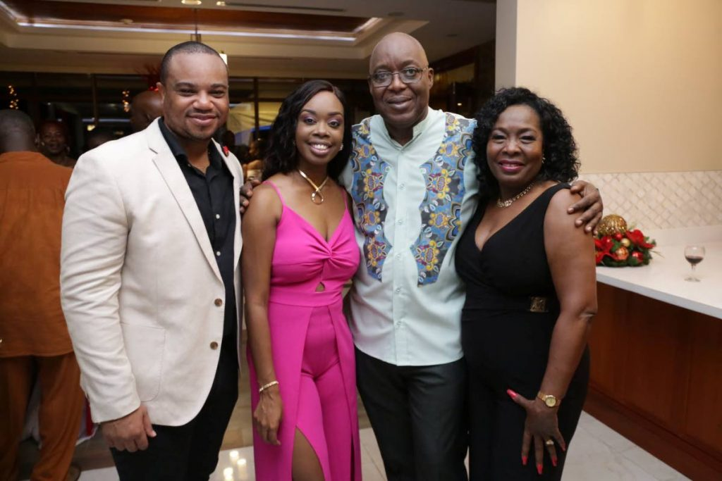 Chief Secretary Kelvin Charles, second from right, with Assemblymen (from left) Kwesi Des Vignes, Nadine Stewart-Phillips and Marslyn Melville-Jack at the opening of the new PM residence in Blenheim on Saturday.  - THA