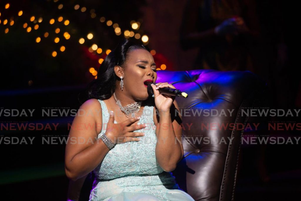 LA Rose delivers a rousing rendition of Have Yourself a Merry Little Christmas. -