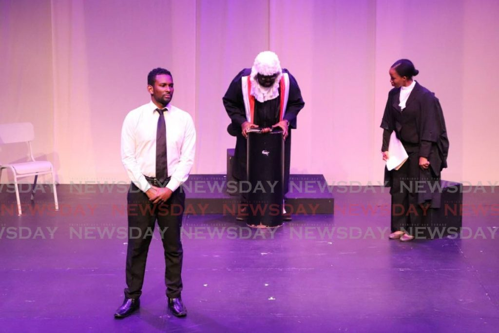 A scene from the Necessary Arts production graduation production Trials and Triumph. -