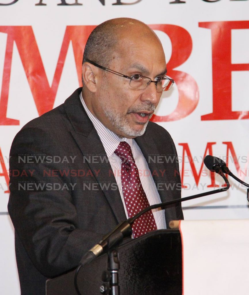 T&T Chamber of Industry and Commerce CEO, Gabriel Faria.  PHOTO BY  - Angelo Marcelle