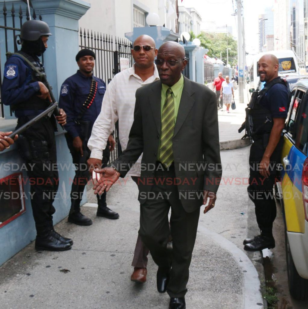 Jack Warner leaves the Port of Spain Magistrate's Court. - ANGELO M. MARCELLE