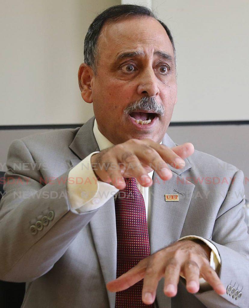 UTT president Prof Sarim Al-Zubaidy. -