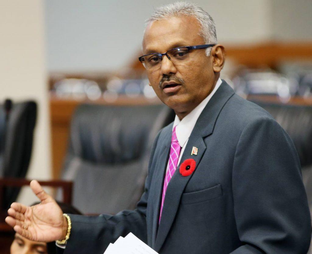 Couva South MP Rudranath Indarsingh -