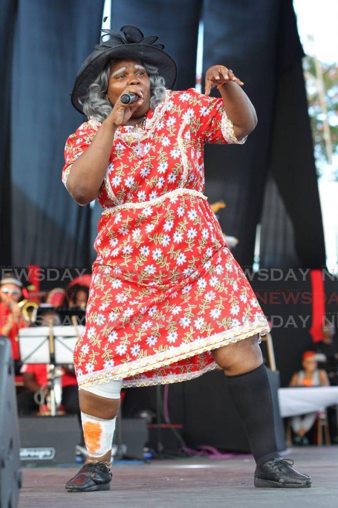 "Natasha ""Sexy Suzie"" Nurse performs The Wrong Name at Calypso Fiesta, Skinner Park, last February. - Lincoln Holder"
