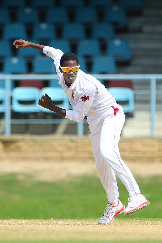 Red Force spinner Akeal Hosein  -