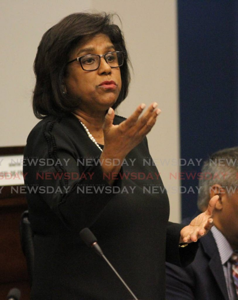 Senator Paula Gopee-Scoon speaks in Senate. - Angelo Marcelle