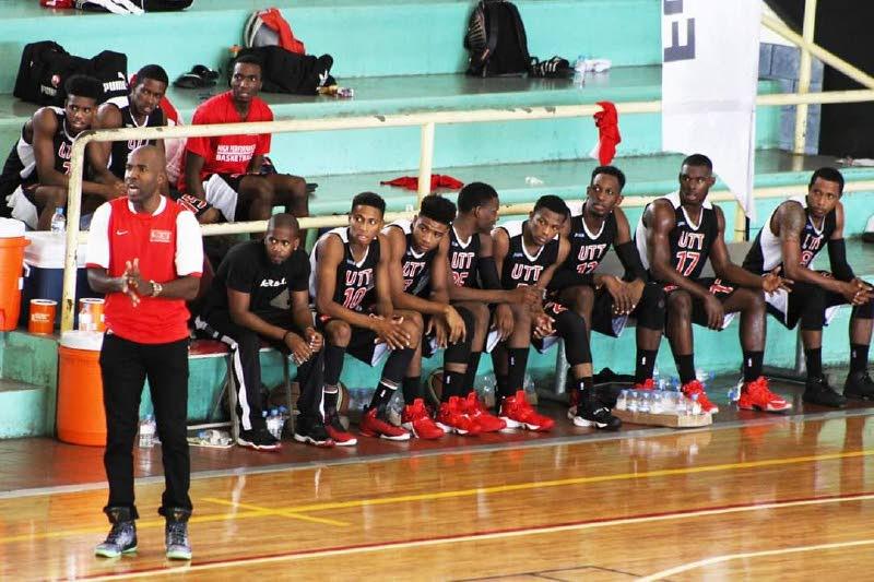 UTT basketball coach, Stefan Dillon, left. -