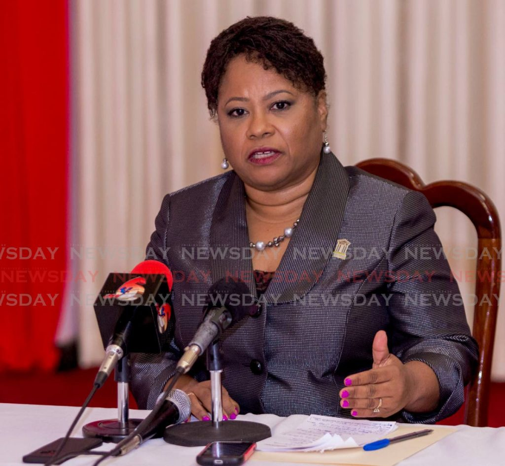 Former THA presiding officer Dr Denise Tsoiafatt-Angus urges PNM members to vote in the PNM internal elections runoff on Sunday. PHOTO BY DAVID REID  - DAVID REID