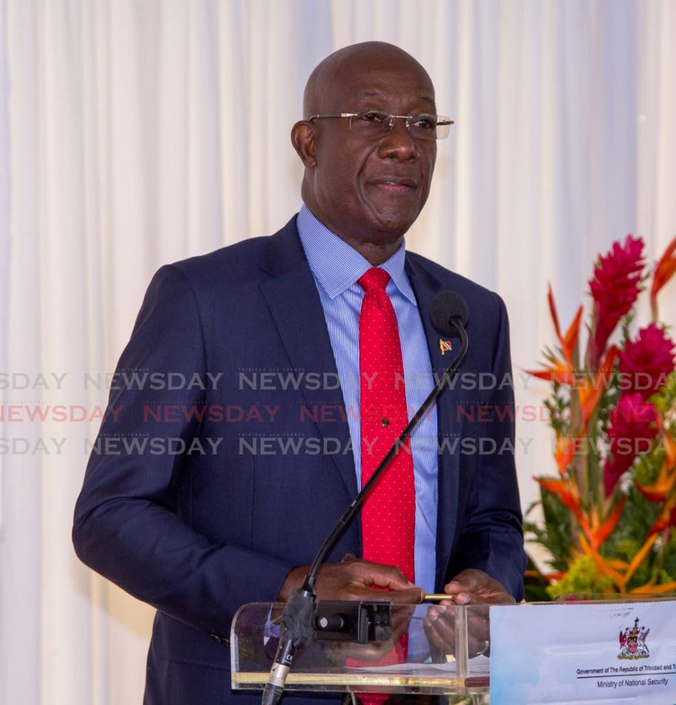 Prime Minister Dr Keith Rowley on Friday spoke out against recent murders of women linked to domestic violence, calling on men to walk away when relationships fail. -