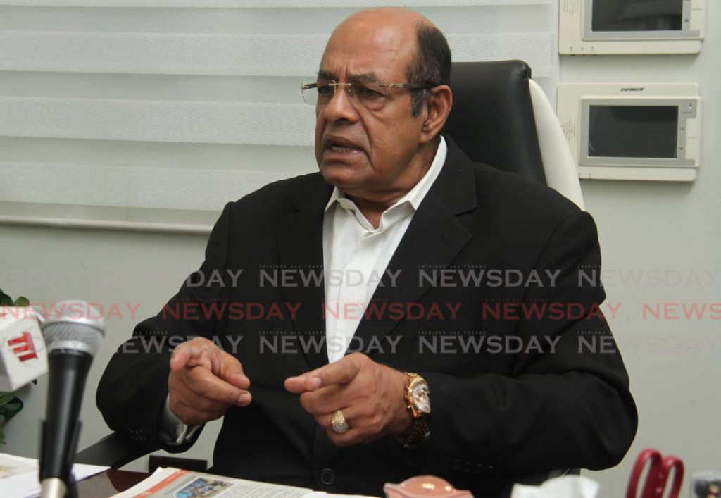 Caroni East MP Dr Tim Gopeesingh during a press conference on health matters on Friday. - Ayanna Kinsale