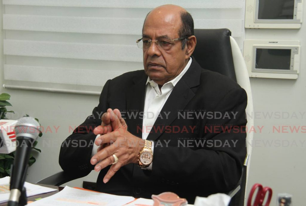 Former Health Minister Dr Tim Gopeesingh at a press conference in St Clair on Friday where he blasted current Minister Terrence Deyalsingh accusing him of incompetence.  - Ayanna Kinsale