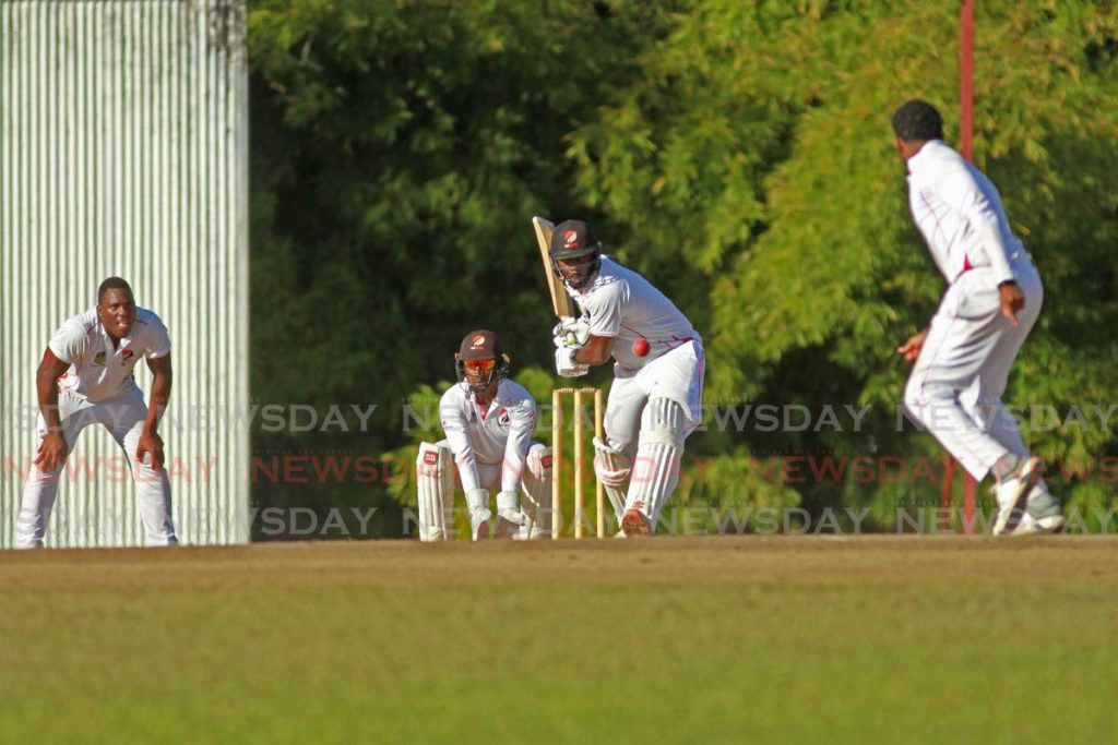 Marlon Richards at TTCB trial match at the National Cricket Centre, Couva. - Marvin Hamilton