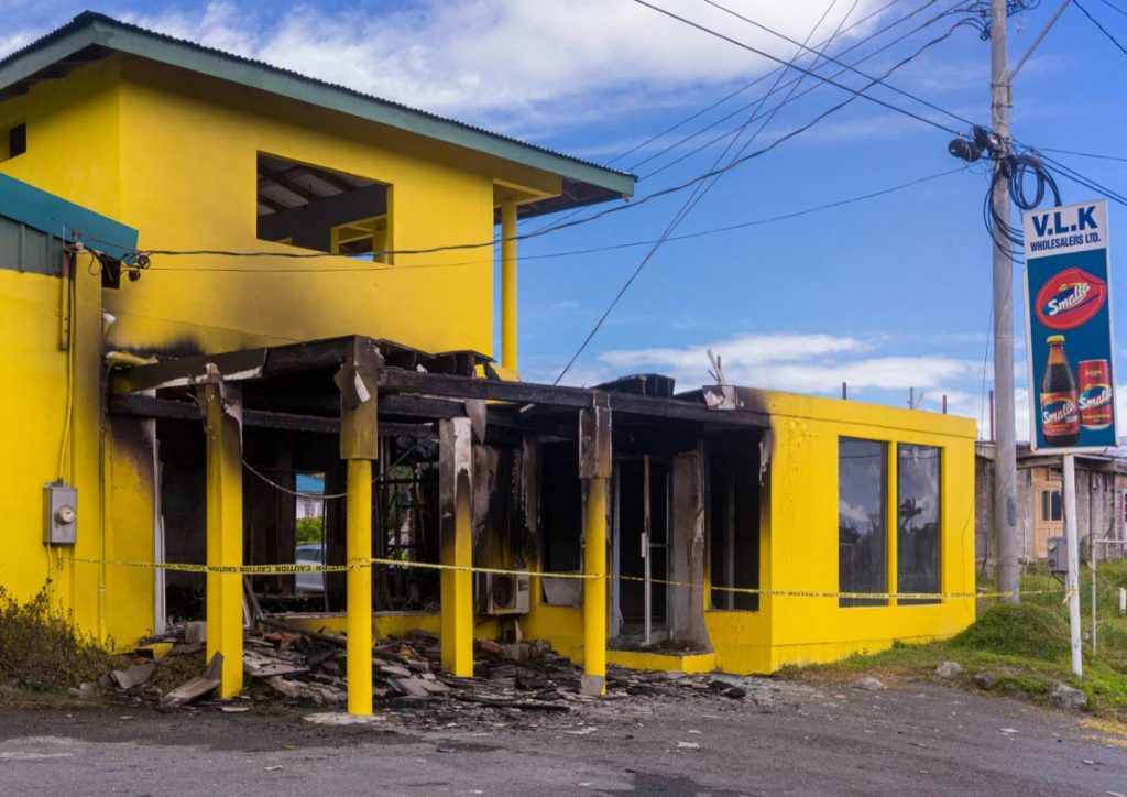 A clothes store owned by Verna Cornwall was gutted by fire on January 7 at Cowfarm Road, Goldsborough. PHOTO BY DAVID REID - DAVID REID