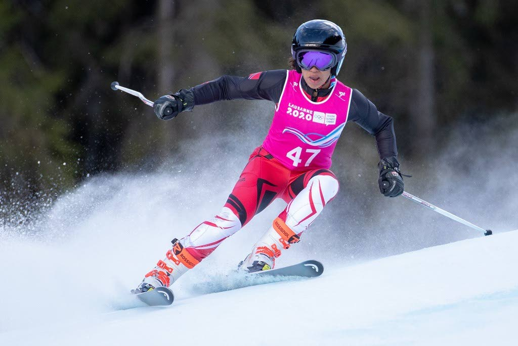 TT's Abigail Vieira in action on her Winter Youth Olympics debut in Switzerland on Friday.  -