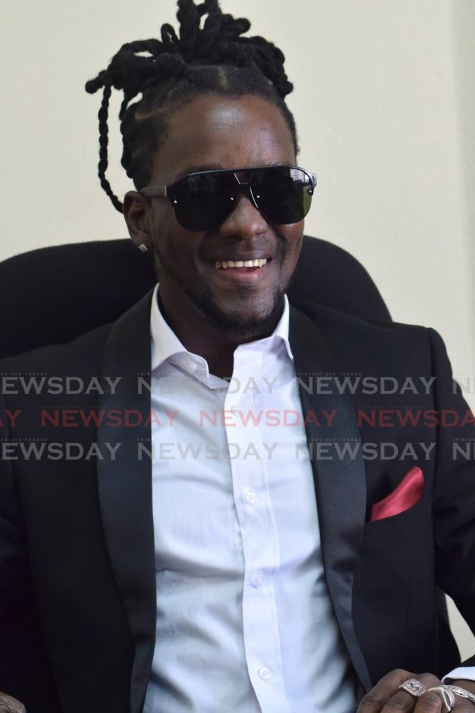 Hollice Mapp aka Mr Killa smiles during a press conference held at Christina court, Boissiere, Maraval. - Vidya Thurab