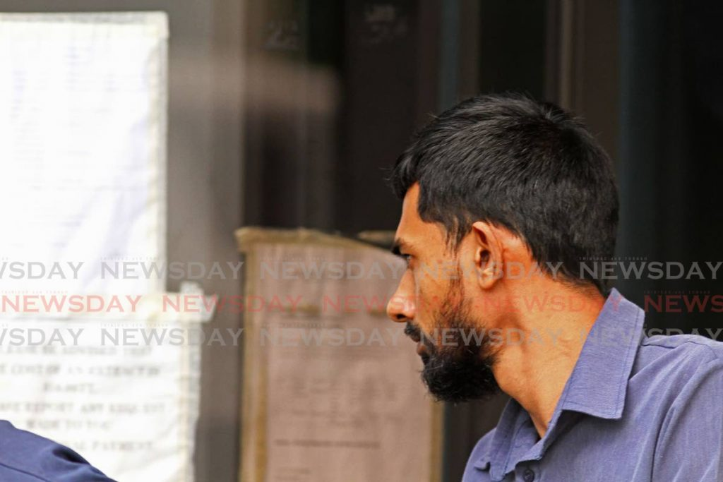 Murder accused Vishal Birju, appearing at the siparia Court charged with the murder of Gabrielle Du Barry On Thursday 9th January. - Marvin Hamilton
