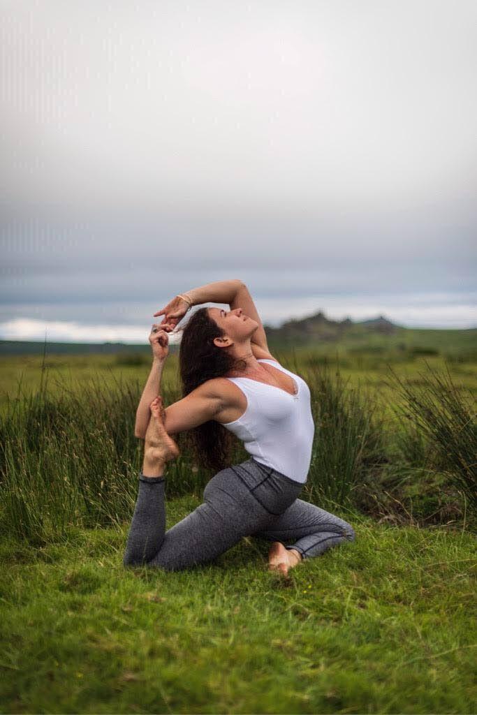 Mind and body therapist and yoga instructor Simone Da Costa shows how to master one's body. Photo courtesy Simone Da Costa -