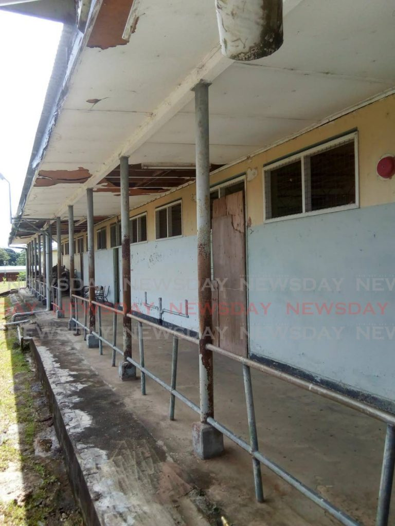 This photo sent to Newsday by the PTA of the Point Fortin East Secondary School claims to show school's current state of disrepair.