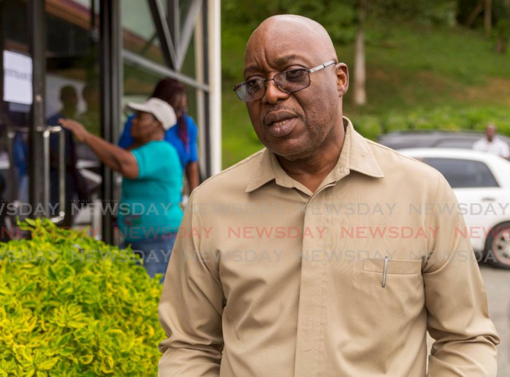 Leader of the PNM Tobago Council, Kelvin Charles. -