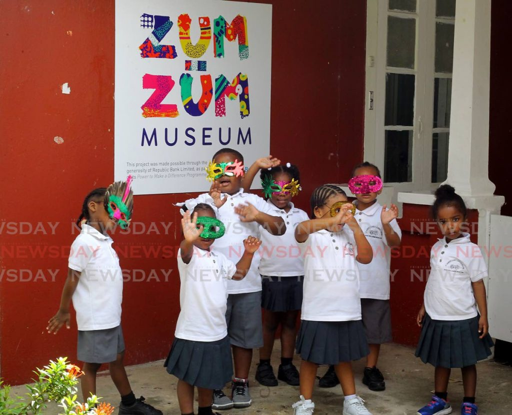Students from St Gabrielle's Early Childhood Centre pay a visit to the Zum Zum Children's Musuem Carnival Exhibition Belmont Circular Road, Belmont on Monday. - ROGER JACOB