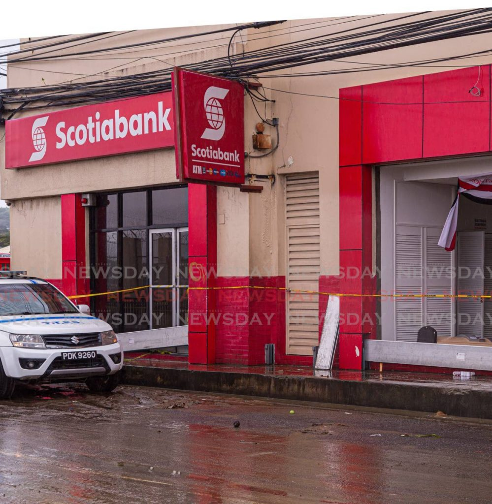 Scotiabank has decided to close its Scarborough branch after assessing its damage from Tropical Storm Karen in September last year. PHOTO BY DAVID REID - DAVID REID