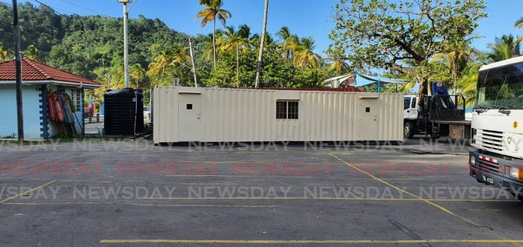A 40-ft container to be used to temporarily accommodate lifeguards at Maracas and Tyrico beaches. -