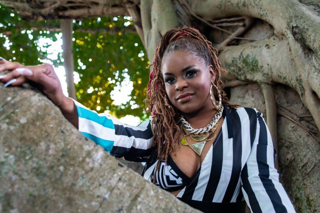 Trinidadian Miami-based rapper Rhonda Knights, also known as SistaRon. -