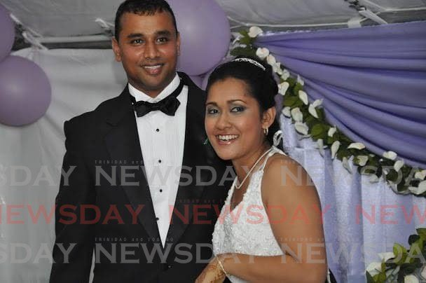 Roger Singh, left, ambushed and murdered his estranged wife Naiee in the carpark of her workplace at Venture Credit Union on the corner of Noel Street and Southern Main Road Couva as she arrived on Monday morning. -