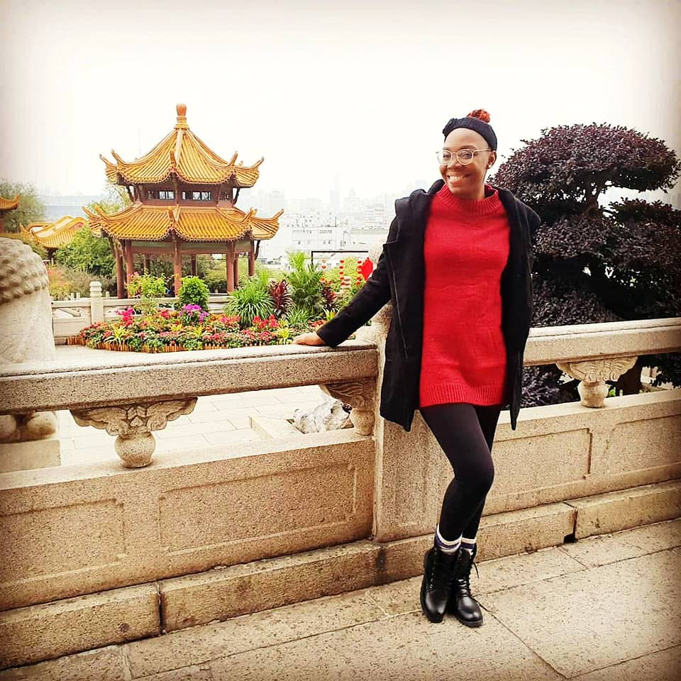 Trinidadian Shilohna Phillanders, seen in this photo taken from her Facebook page, who is a teacher in China, experienced first hand the panic caused by the coronavirus outbreak in Wuhan Province.   -