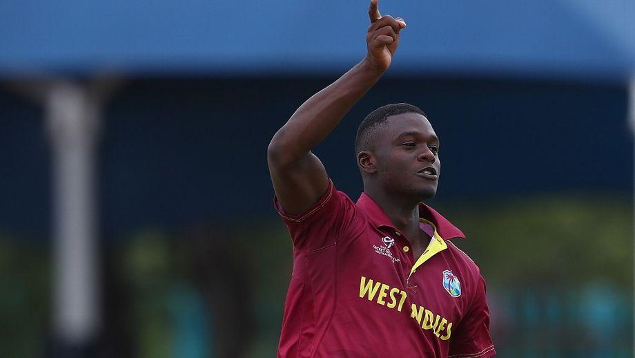 West Indies fast bowler Jayden Seales. GETTY IMAGES
